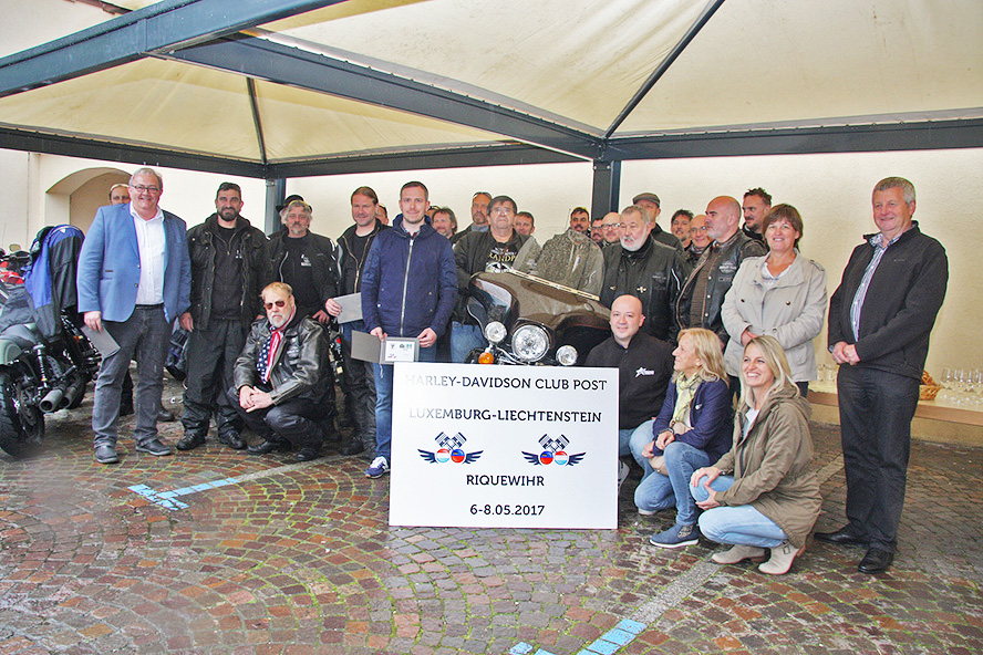 May 5th: philatelic mail exchange between the Harley-Davidson Clubs of Luxembourg and Liechtenstein.