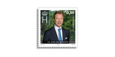 Special stamp Grand Duke Henri's 20th anniversary of accession to the throne