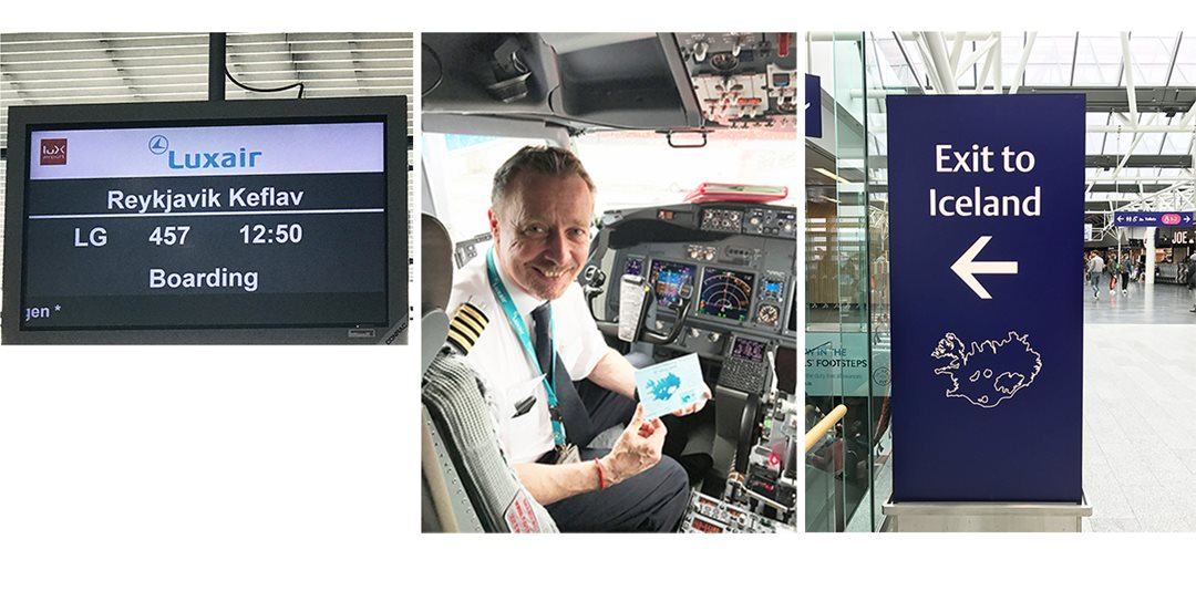 Maiden flight Luxembourg-Iceland by Luxair on May 9th