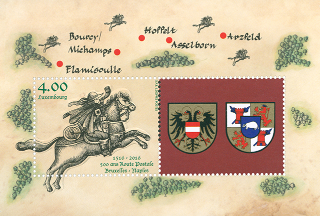 Thurn and Taxis Postal Route, a philatelic event on 18 June in Asselborn (L) and Arzfeld (G).
