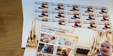 POST Luxembourg celebrates the 1st anniversary of HRH Prince Charles and issues a series of exclusive stamps.